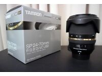 Excellent condition TAMRON 24-70mm f/2.8 LD Aspherical VC SP Di USD for Nikon