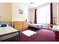 Huge twin room in MAIDA VALE ** Available Now ** Perfect for 2 friends