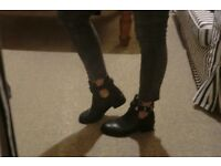 BLACK ANKLE BOOTS MANGO - ONLY £30!! Need to sell, have too many :o