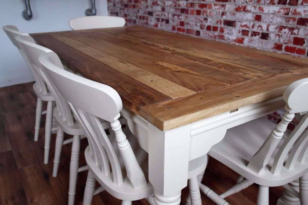 Up To 12 Seater Rustic Farmhouse Extending Dining Table Set