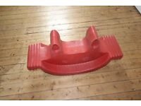 Red Plastic Seesaw