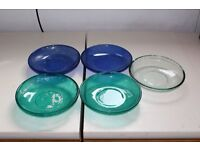 Five Glass Bowls come in good condition