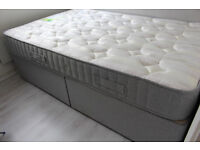 Small double divan bed in perfect condition