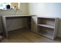 Office Combination Corner Desk With Shelving