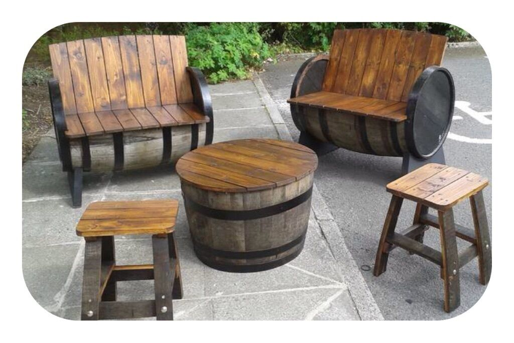 Oak barrel garden furniture for garden patio bar pub for Outdoor furniture gumtree