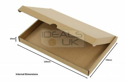 50 x Large Letter Postal Boxes Mail PIP Cardboard 218x159x20mm - C5 A5