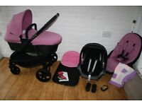 iCandy Strawberry 2 pram pushchair with car seat 3 in 1 - pink Smoothie CAN POST