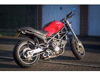 Ducati Monster M900Sie finished in Red with Carbon extras and astonishing Custom build exhaust