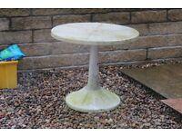 White uPVC Garden Table