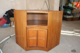 1970s retro teak corner unit high Parker Knoll Nathan corner unit