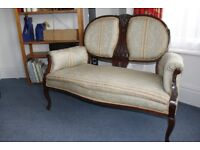 Edwardian boudoir suite - small sofa, 2 armchairs and 4 chairs - for urgent sale due to house move
