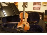 Antique violin, possible Voigt, with case and new bow. Can post UK or collection welcome