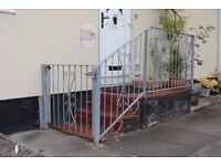 Wrought Iron Handrail and Gate Enclosure