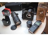 CANON 1D MK 3, Sigma 70-200mm f2.8 EX DG OS HSM Lens and Sigma Apo tele convertor 2X DG