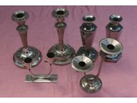 6 EPNS Candlesticks inc 2 Pairs and 2 Double Candlesticks