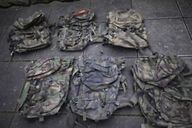 Grade2 British Army Issed DPM PLCE Bergan / Rucksacks