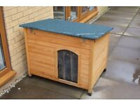 Nearly NEW | Large Wooden Dog Kennel & Soft Mat | Medium Sized Dogs