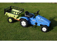 Landini 8880 Toy Ride on Tractor and Rolly Trailer