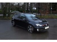 June 2012 Volkswagen Golf 2.0TFsi GTi DSG (Auto) 5 Door in Black with Full Heated Leather, £11850