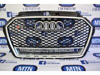 AUDI RS3 FRONT GRILL BLACK/ SILVER QUATTRO 2016 ONWARDS FITTING FITS NEW MODELS