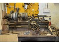 "James Spencer & Co Lathe. 48"" wide. Metal and Wood. Bristol"