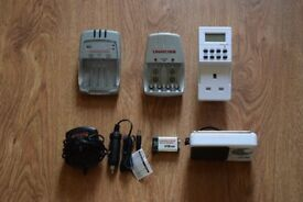 UNiROSS Battery Chargers, LCD Timer, Radio