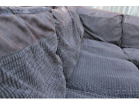 Jumbo cord corner sofa left or right sided, Able to deliver if needed