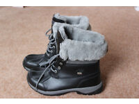 AUTHENTIC! RRP £220 UGG Butte Size 42 UK 9 Black - Grey NEW! Waterproof Ski Boots