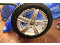 4 x Audi 17in unmarked alloy wheels complete with Dunlop SP Winter Sport 3D AO tyres size 225/50 R17