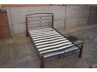 Double Metal Bed Frame with Mattress