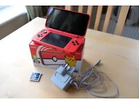 Nintendo 2DS XL Pokeball Game Console Limited Edition With Box, Charger And Fab Extras