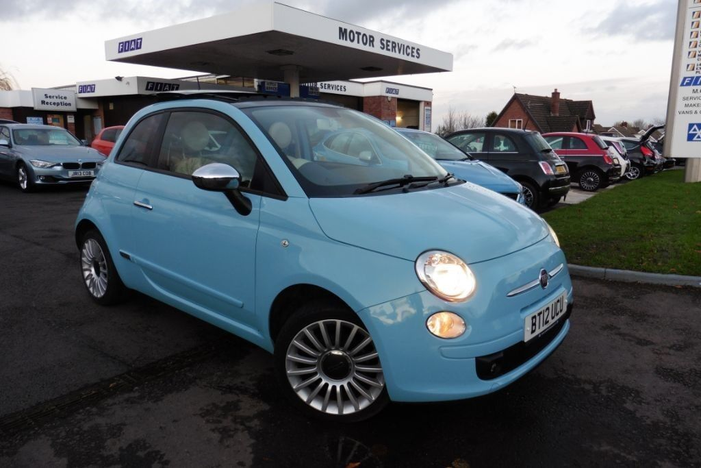 fiat 500 pop blue 2012 in chepstow monmouthshire. Black Bedroom Furniture Sets. Home Design Ideas