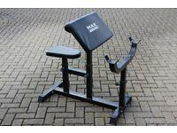 Preacher arm curl weights bench / gym bench