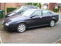alfa romeo 166 2.5 v6 24v classic and rear in manual fast car!