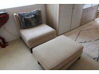 Luxury Armchair & Ottoman   RRP £1,899