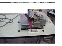 WILLCOX & GIBBS 5 THREAD INDUSTRIAL OVERLOCKER,table and notor good condition, good all working