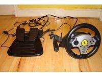 Thrustmaster PC USB steering wheel + pedals
