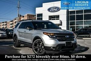 2014 Ford Explorer Sport SPORT 4WD - LEATHER - BLIS W/ CROSS TRA