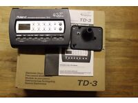 Roland TD-3 Boxed with Manual mounting plate and power supply TD3