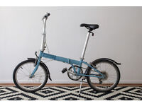BLUE Folding bike DAHON Speed D7 with extra £30 worth reinforced tire and an original Dahon bag!