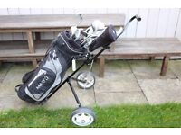 SET OF GOLF CLUBS plus wheeled bag & accessories