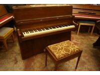 Bentley upright piano with matching stool - Tuned & UK delivery available