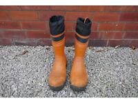 Stihl Standard Rubber Chainsaw Boots – Orange Size UK 8