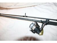 7ft spinning rod 15-20g shimano 2500 reel loaded with braid pike fishing