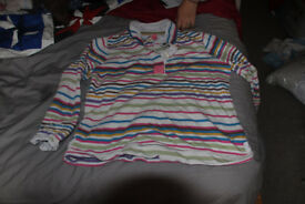 Joules rugby shirt size 18