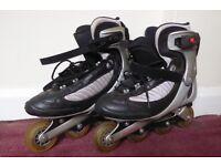 Silver/Black Men's Rollerblades. UK Size 10/11. ABT brake