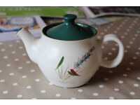 Denby Greenwheat Pottery Small Teapot