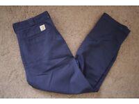 Carhartt Master Pant II Trousers - Dark Navy (Rinsed) 34 X 32