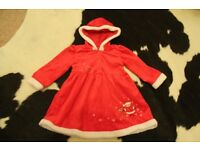 Girls 18-23months Christmas dress excellent condition
