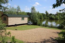 Shepherds Hut sleeps two adults. £115.00 per night two night min stay. Own hot tub free fishing.